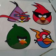JDM Style Sticker angry bird space SET