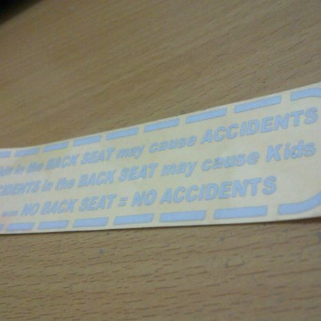 JDM Style Sticker backseat accident  backseat accident 13x3cm 7rb