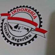 JDM Style Sticker cinta indonesia