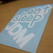 JDM Style Sticker eat sleep jdm