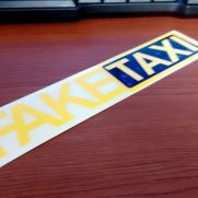 JDM Style Sticker fake taxi