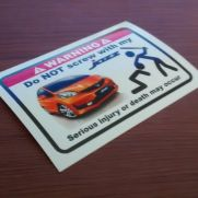 JDM Style Sticker dont mess JAZZ GE8 ORANGE