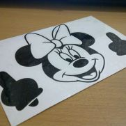 JDM Style Sticker minnie flip off