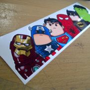 JDM Style Sticker superhero