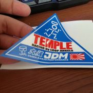 JDM Style Sticker temple segitiga
