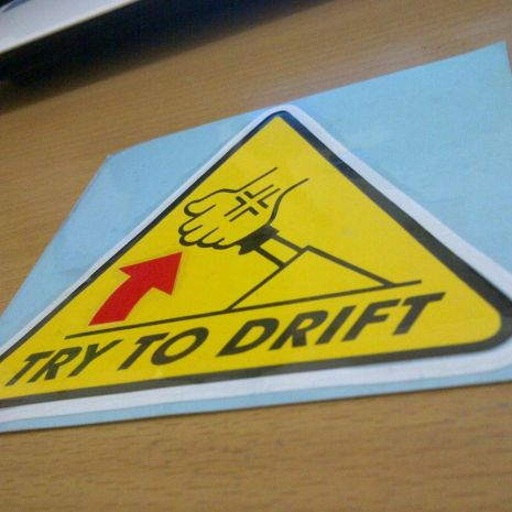 JDM Style Sticker try to drift try to drift 10x9cm 7rb