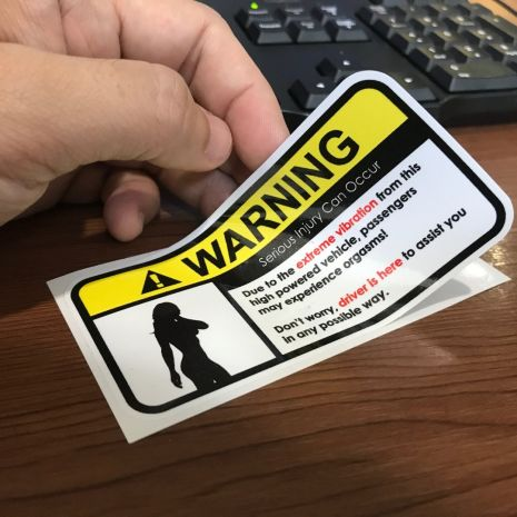 JDM Style Sticker warning vibration